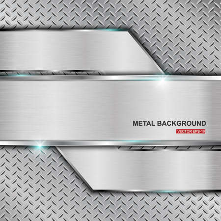 Metal background.Vector illustration Vector