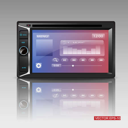 hi fi system: Modern Car Audio . vector illustration
