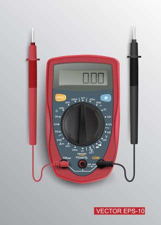 impedance: Digital multimeter.Vector illustration.