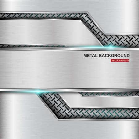 Metal achtergrond.Vectorillustratie Stock Illustratie