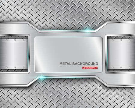 ironworks: Metal background illustration