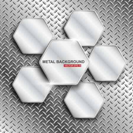 Metal background illustration