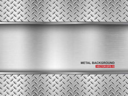 plate: Metal background illustration