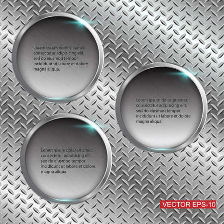 ironworks: Abstract metal background illustration