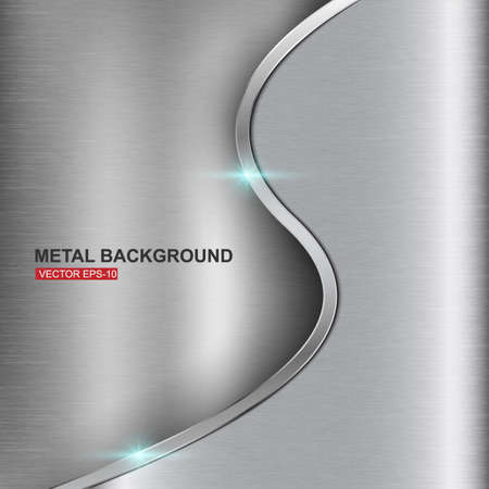 brushed aluminium: Abstract metal background illustration