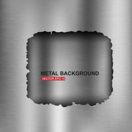 brushed aluminum: Abstract metal background illustration
