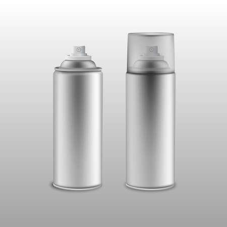 tin: Blank aluminium spray can.Vector illustration
