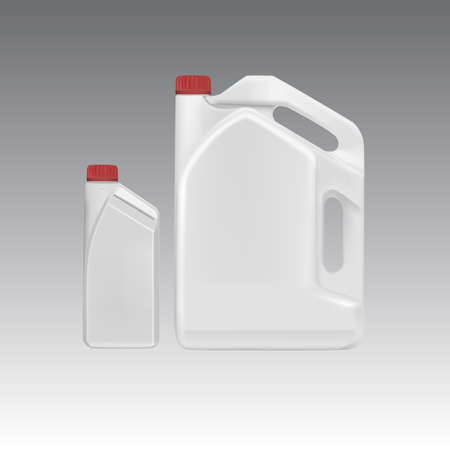 canister: Blank plastic canister for motor oil,Vector eps10