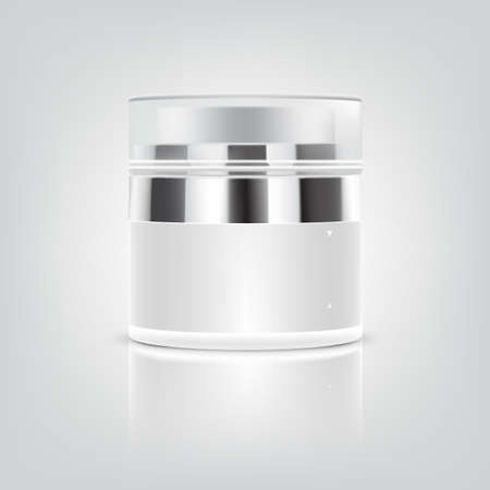 clear skin: Blank white Cosmetic containers