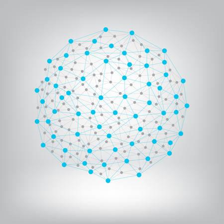 conectar: Los puntos con conexiones de fondo.