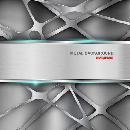 brushed aluminum: Industrial abstract background.Vector illustration