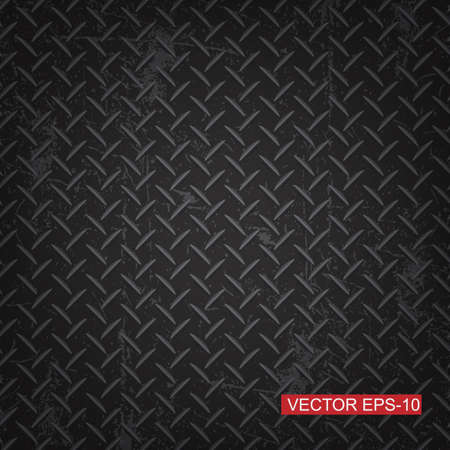 Black diamond plate texture background.