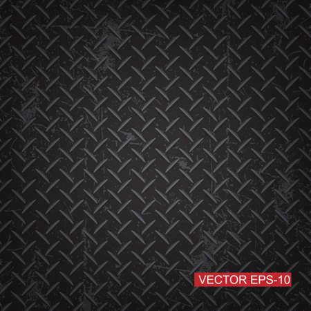 Black diamond plate texture background.