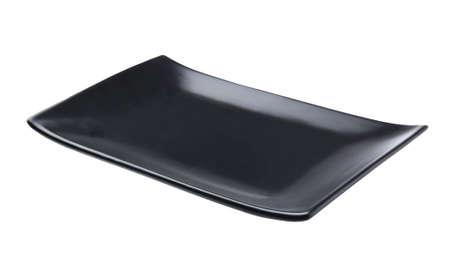 objetos cuadrados: placa de negro aislado Foto de archivo