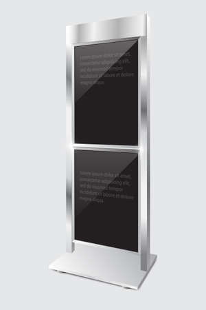 display stand: Advertising display stand illustration.