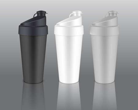 water sport: Plastic shaker illustration.