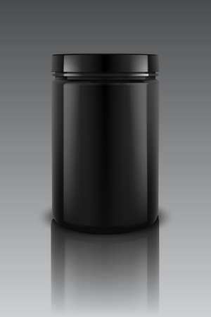 Black Plastic Jars illustration