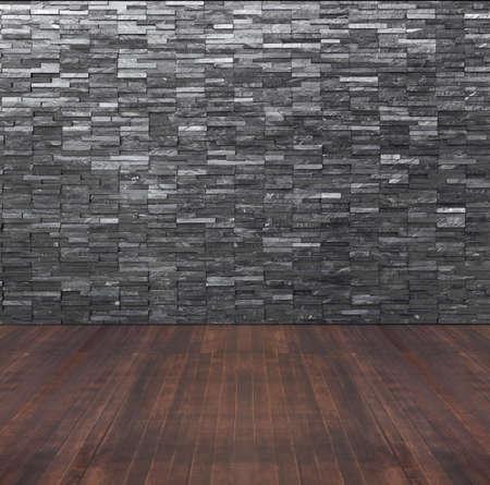 Entre La Chambre Vide Avec Mur Du0027ardoise Noire Et Parquet Photo