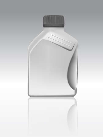 Blank plastic canister for motor oil,Vector eps10