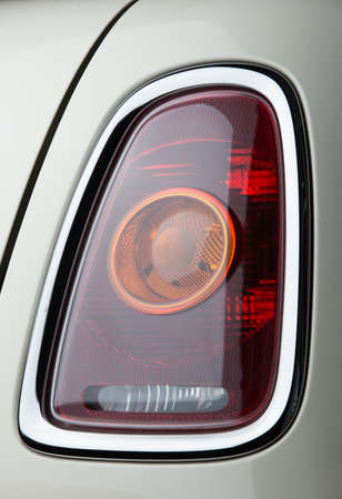 cooper: BANGKOK, THAILAND - September ถ,2016: Close up a tail lamp of mini cooper