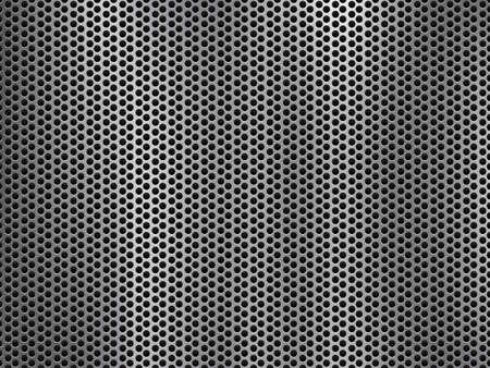 metal grate: metal grill background.Vector illustration