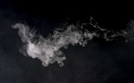 Smoke on black background Stockfoto