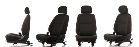 Car seats on white background Banque d'images