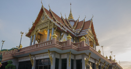 venerate: Temple in the evening