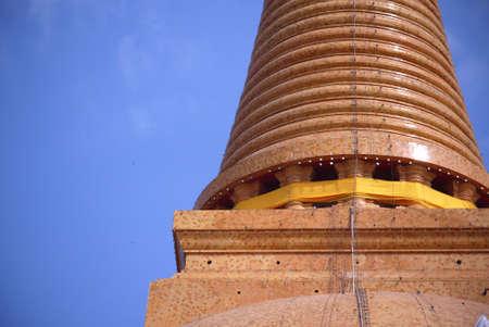 nakhon pathom: Wat Phra Pathom Chedi Temple Close up shot, Nakhon Pathom, Thailand