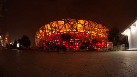 BEIJING, CHINA - Oct 13, 2014 : Beijing National Stadium, also known as the Birds Nest in Beijing, China.