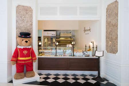 harrods: Bangkok, Thailand - May 8, 2016 : Harrods shop cafe bakery and restaurant at Central Embassy shopping mall in Bangkok.