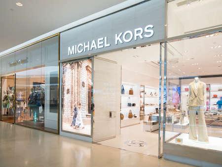 Bangkok, Thailand - May 6, 2016 : Interior of Michael Kors store display at Central Embassy the Luxury Shopping Mall downtown in Bangkok, Thailand. Sajtókép