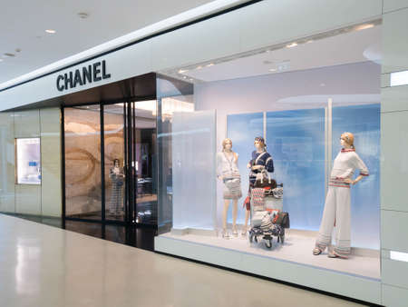 chanel: Bangkok, Thailand - May 8, 2016 : Chanel store at Central Embassy luxury shopping mall in downtown Bangkok. Chanel is one of many luxury brands fashion company.
