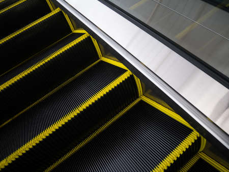 accident dead: Brush bristles of Escalator stair for reduce danger accident
