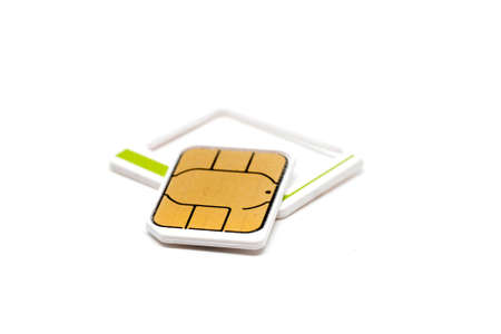 simcard: micro nano simcard isolated on white background