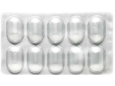 blister: Aluminum blister pack for drug pills capsules Stock Photo