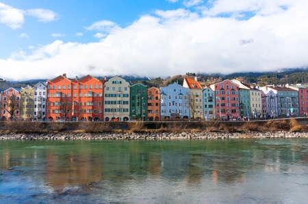 Cityscape of Innsbruck, Austria. Stock Photo