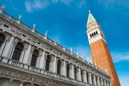 Venice landmark, St. Mark Companile of Piazza San Marco, Venezia, Italy