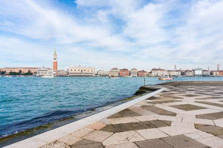 Venice landmark, Piazza San Marco view looks from church of San Giorgio Maggiore.