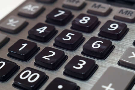 calculator for mathematical calculations and accounting close-up