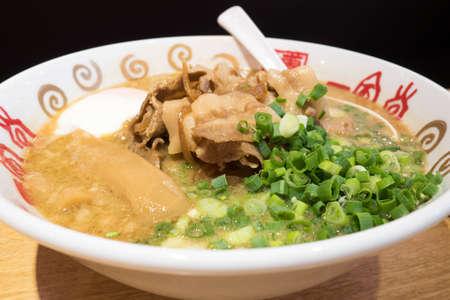 Bangkok, Thailand - Feb 8, 2017 : Tonkotsu ramen Japanese noodle from Ippudo ramen restaurant at Silom Complex, Bangkok.