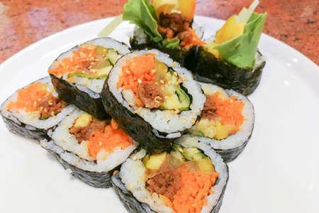Kimbap Korean Sushi Rolls Recipe