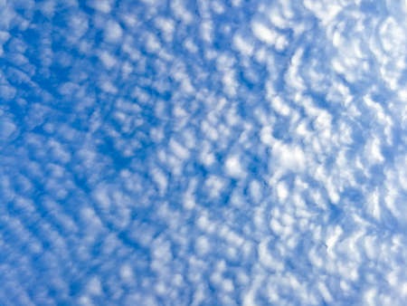 Clouds pattern on blue sky in the morning