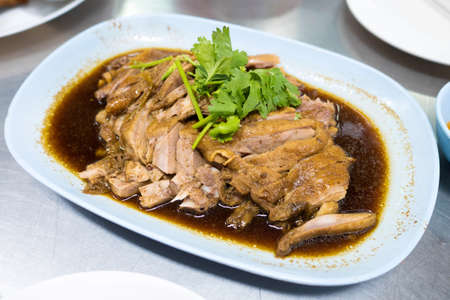 Five Spice Duck slice Chinese food Stock Photo