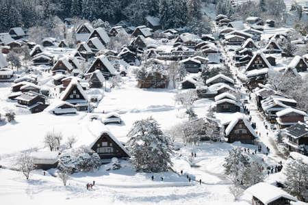 Shirakawa go village in winter, Shirakawa go, Japan Imagens