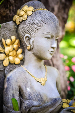 woman statue in thailand photo