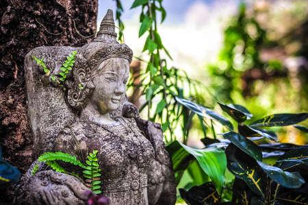 sword act: statue in thailand