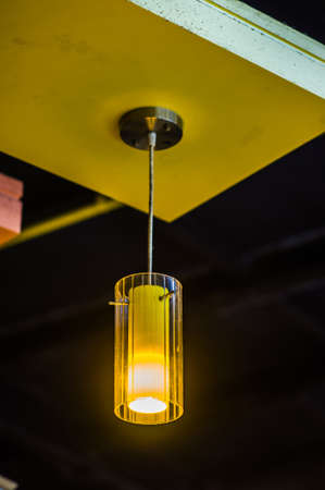 Ceiling light in coffee shop photo