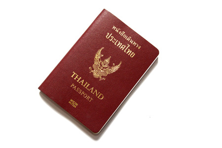 Thai passport in white background Stock Photo