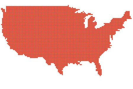 united state: Map of United State of America Illustration